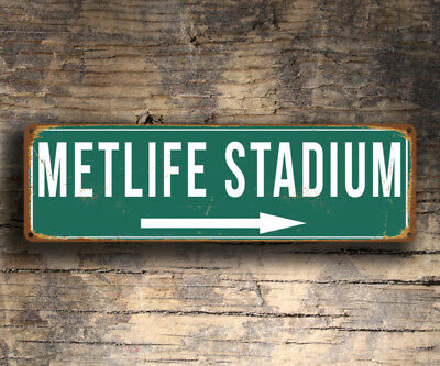Metlife Stadium Sign Home of the New York Giants New York Jets Vintage style