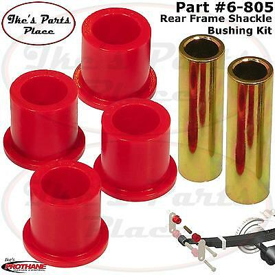 Prothane 6-805 Red Rear Frame Shackle Bushing Kit