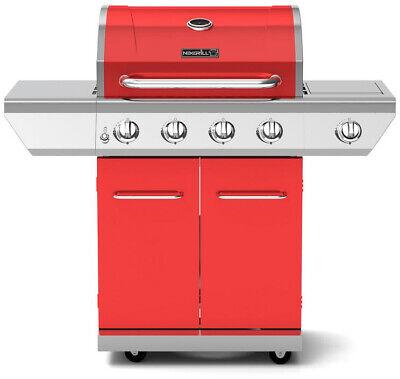 Nexgrill 4 Burner Propane Gas Grill Red Side Burner ...