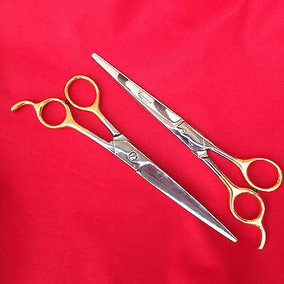 "Professional Pet Grooming Barber Scissors Curved 7.5 /"" 19 cm Scissor clippers"