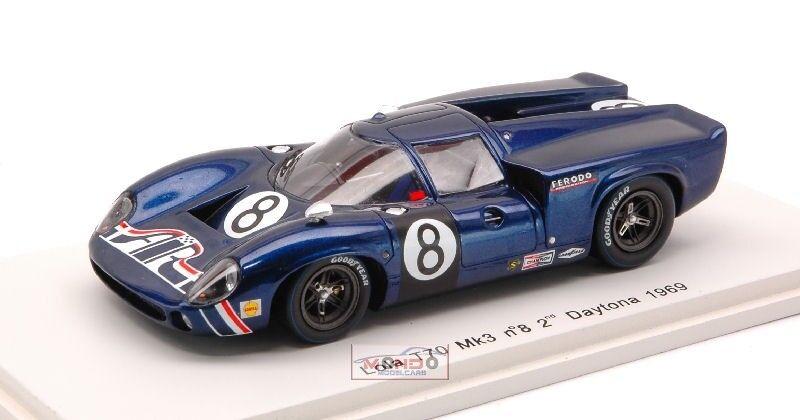 mejor servicio Lola Lola Lola T 70 Mk 3  8 2Nd Daytona 1969 1 43 Spark Sp1466 Modellino  promociones