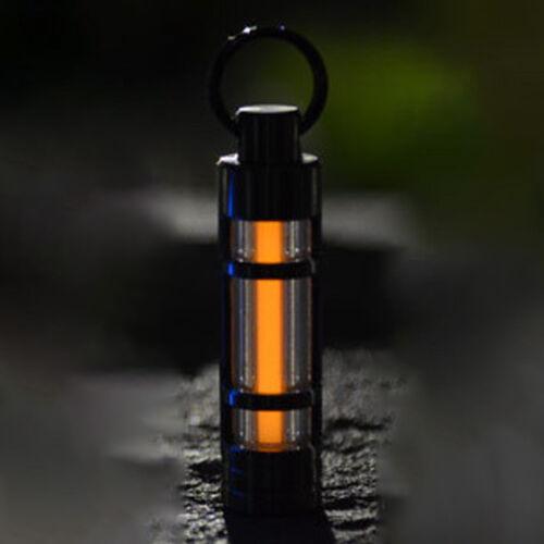 Auto Titanium Alloy Keyring Tritium Light Emergency Fluorescent Tube Keychain
