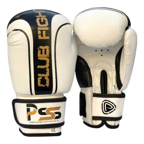 1006 KIDS MOULDED FOAM BOXING GLOVES FIGHT PUNCH WHITE REX LEATHER BAG MMA