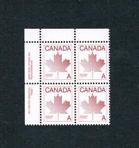 1981-907-PB-1-UL-VFNH-TIMBRES-CANADA-MAPLE-LEAF-NON-DENOMINATED-DA18