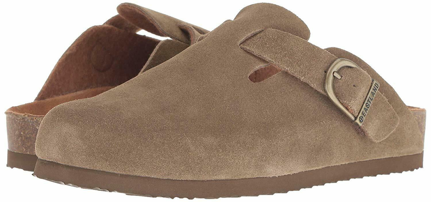 Eastland Men's Gino Leather Suede Casual Comfort Slip-On Cogs Khaki Suede