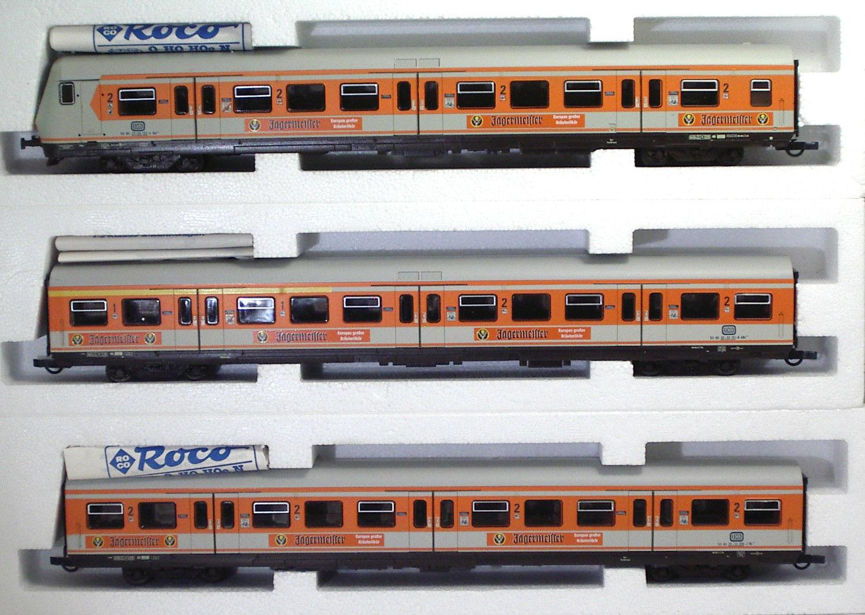 ROCO 44670 1 2 DB Pilota + 2 Cocherozze S-BAHN  Jagermeister  Ep IV SET Completo