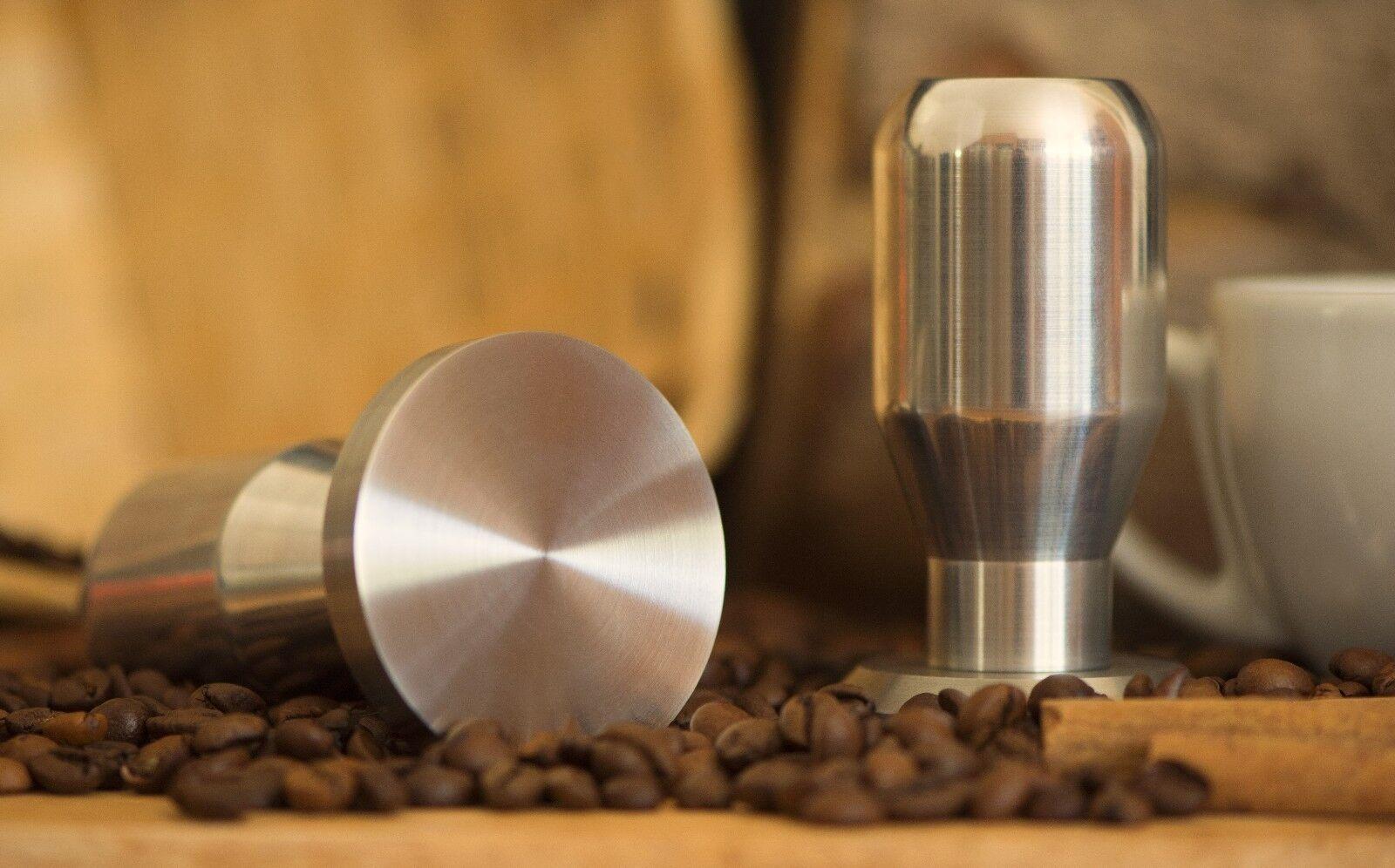 Argent Professionnel 49-58 mm café espresso Tamper 100% de base en acier inoxydable