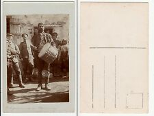 Makedonija,Polizei m.Trommel im 1.Weltkrieg Soldat d. Füsilier Reg.122, RPPC1916