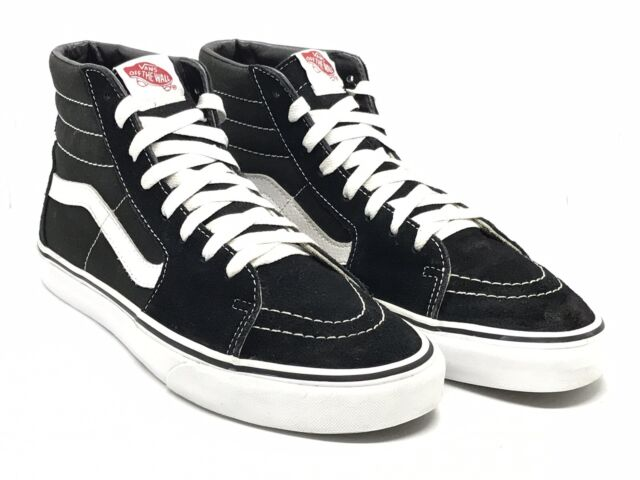 VANS Sk8 Hi Mens Size 10 Black Canvas High Top Athletic Comfort Skate SNEAKERS