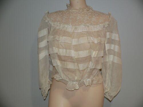 Antique Victorian Edwardian 1900's White Lace Blou