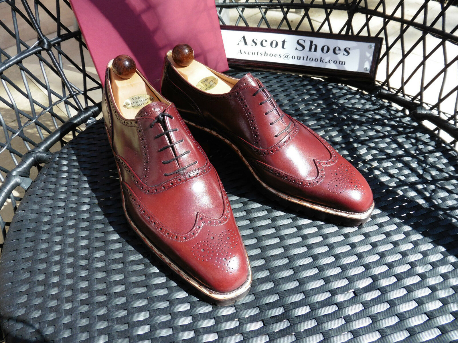 vendita con alto sconto Vt377-Vass Brogue Brogue Brogue Oxford EU44.5 UK10.5 US11.5 D-BORDEAUX VITELLO-U ultimo  grande sconto