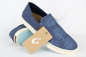 New-Olukai-Women-039-s-Pehuea-Slip-On-Sneakers-Size-8-Vintage-Indigo-Palm