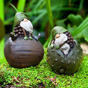 Garden-Gnomes-Ornament-Pair-The-Woodland-Loving-Pike-amp-Pine
