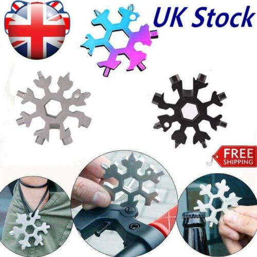 18-in-1 portable multi-tool card combination Compact  outdoor products Snowflake