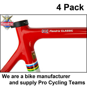 Details Zu 4x Personalised Frame Name Road Cycle Cycling Bike Frame Stickers Decals