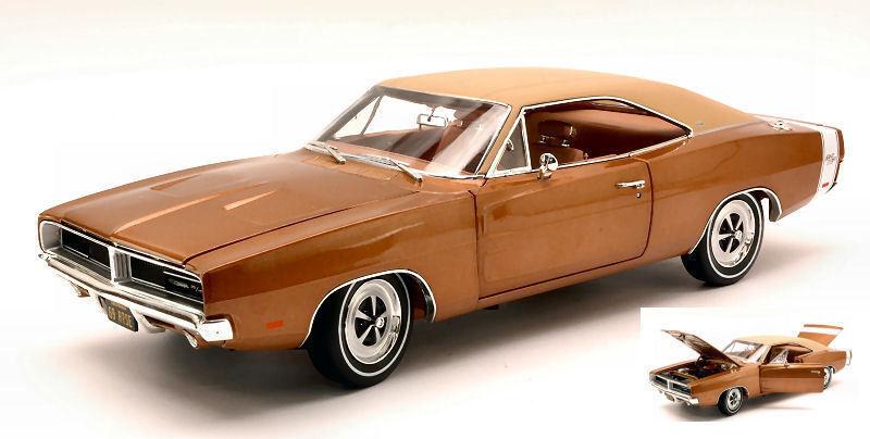 1:18 Authentics Autoworld - 1969 Dodge Charger R/T Bronzo Metallico