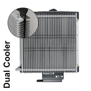 Dual-Heavy-Duty-Transmission-Oil-Cooler-Kit-suit-Ford-Ranger-PX-6-Speed