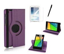 Schutzhülle Asus f Google Nexus 7 (2013) Tasche Case Leder-Imitat lila violett