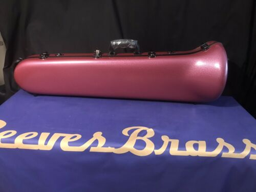 Pink Hardshell Trombone Case With Fit Most Trombone