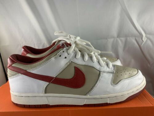 Nike Dunk Low Stone Red 2002 Size 10.5 Mens 12 Wom