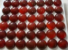 Four 14mm round carnelian agate domed cabochon flat backed gem gemstones cb028