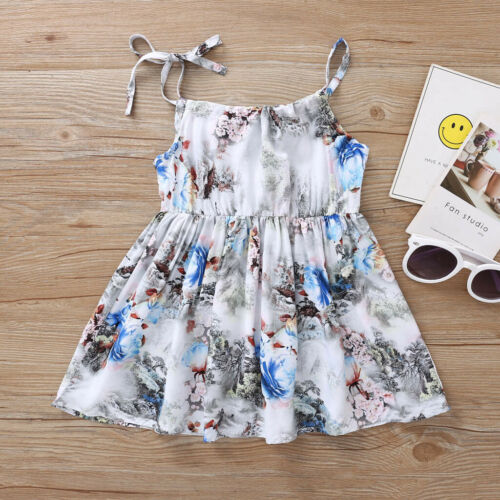 Summer Toddler Baby Kids Girls Dress Princess Party Floral Dress Cute Clothes