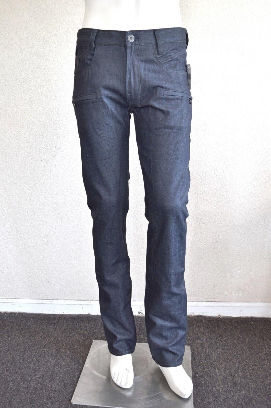 9f34d47a ... New HI-Q Men Classic Jeans Knee Drape Panel Moto Biker Jeans Size  28-40( 566). GUESS Men's Alameda Slim Tapered – Indigo Wash sz 32