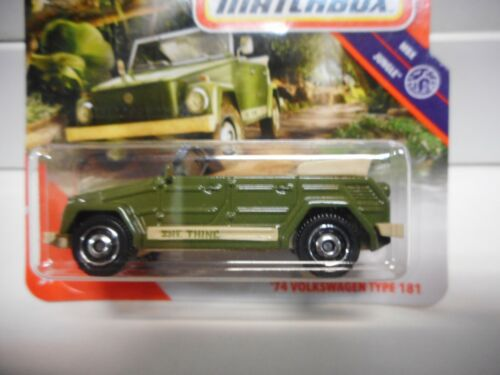 VOLKSWAGEN TYPE 181 1974 THE THING MATCHBOX 1:64