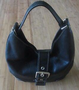 c196619cab7fcf Michael Kors Women's Leather MK Shoulder Tote Bag Black Gold Large ...