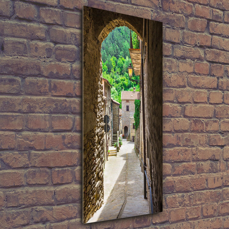 Wand-Bild Kunstdruck aus Hart-Glas Hochformat 50x125 Bezaubernde Straße