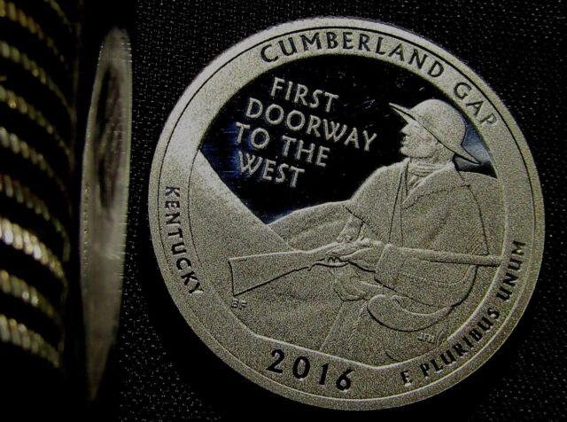 2016-S 25C Cumberland Gap NP-Silver DC (Proof) America the Beautiful Quarter