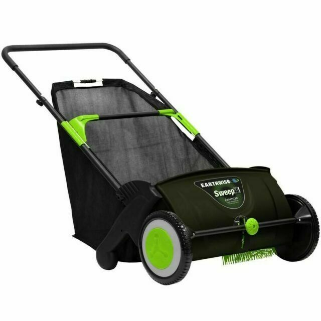 Earthwise LSW70021 21-Inch Leaf & Grass Push Lawn Sweeper, W