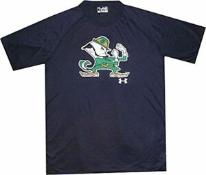 Under-Armour-Men-039-s-Notre-Dame-NuTech-LOOSE-FIT-Navy-Logo-Shirt-34