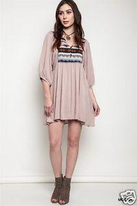 f9888a12094 UMGEE USA Dress Size S 3 4 Sleeve Tribal Print Tunic Top Boho ...