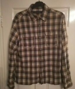 Men-039-s-French-Connection-Plaid-Check-Shirt-Size-XL-Long-Sleeve-Cotton