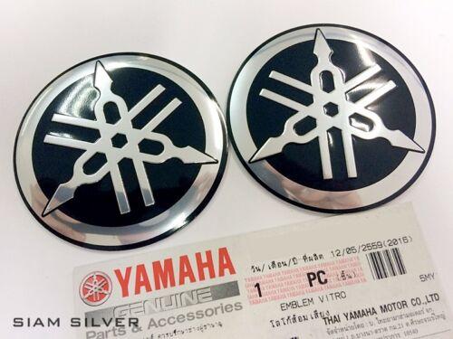 BLACK  TUNING FORK LOGO EMBLEM DECAL YZF R ATV YAMAHA  STICKER GENUINE 55 mm