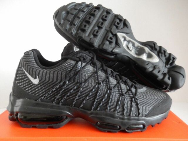 the best attitude cb56b a2b0d Nike Air Max 95 Ultra Jacquard Men Sneaker Black Silver Gray 749771-001