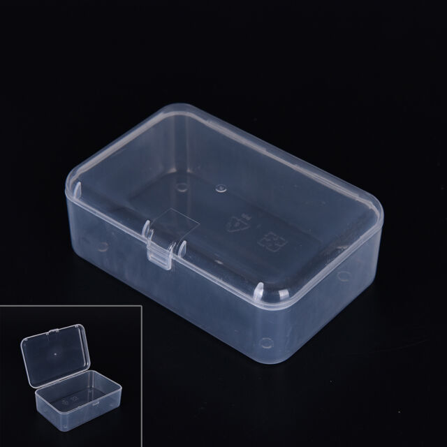 New Small Transparent Plastic Storage Box clear Square Multipurpose display gh
