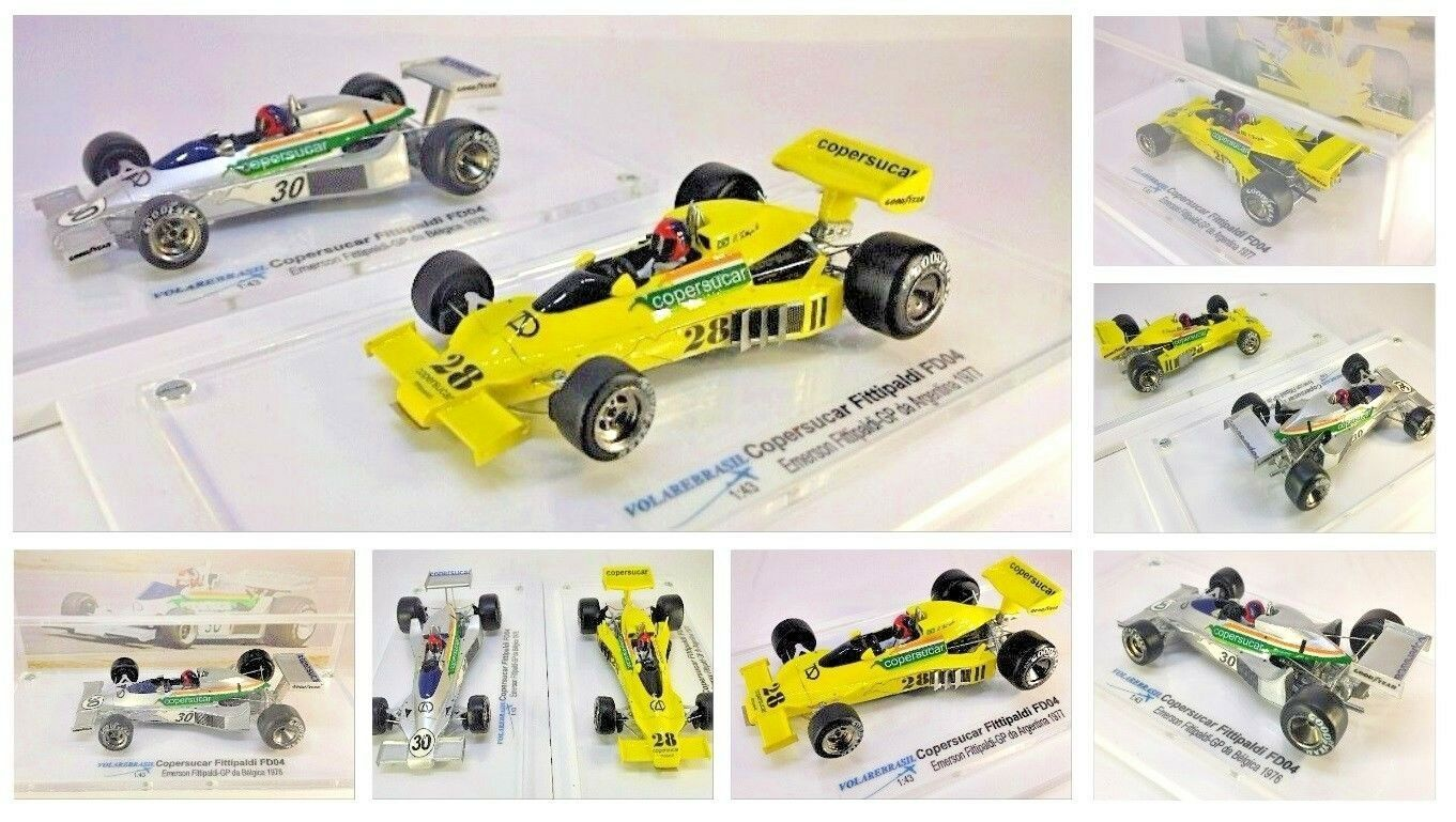 VOLAREBRASIL 1 43 43 43 MINIATURE F1 COPERSUCAR FITTIPALDI F5A EMERSON 100th GP ARG 78 563bdd