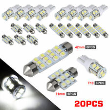 20x White Led Light Interior Package Kit For T10 Amp 31mm Map Dome License Plate