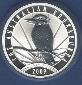 2009-Australia-KOOKABURRA-solid-Silver-1-coin-1-ounce-999-pure-fine-GEM-BU