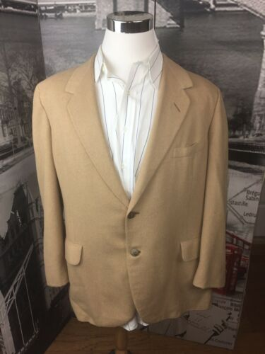 Oxford Clothes Paul Simon Men Sportcoat 46R Camel… - image 1