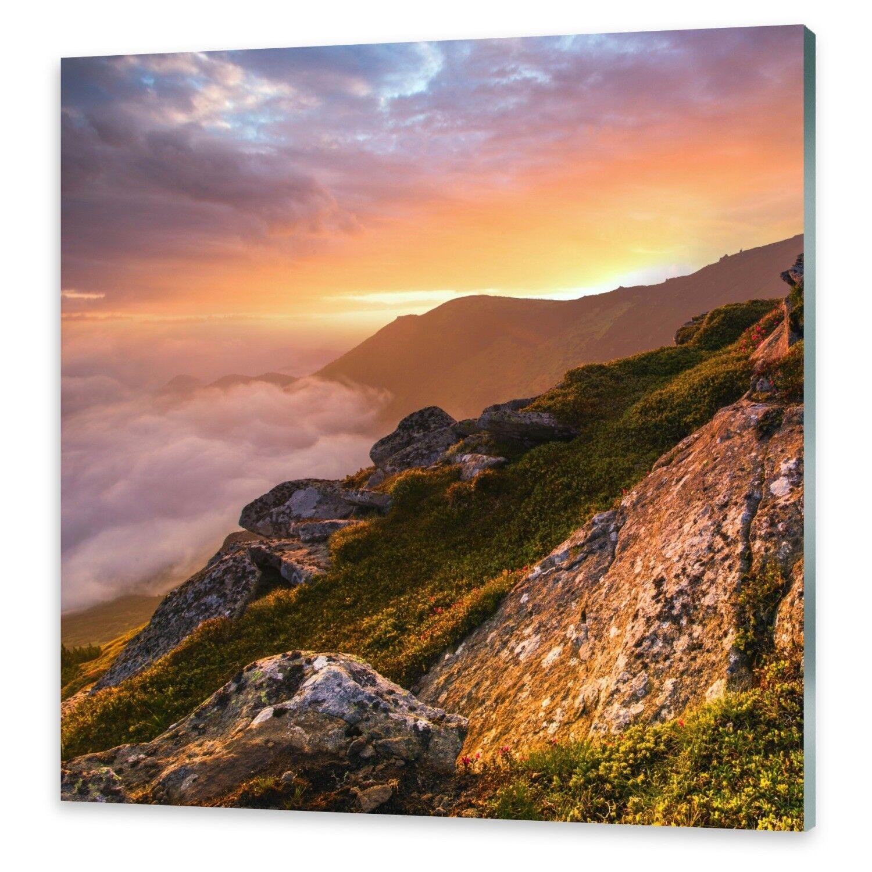 Immagini di vetro Muro Immagine Stampa su su su vetro Carpazi montagne 5fba2b