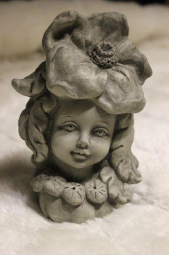 ohne Stab Blumenkind Mohn♥Stele♥Gartenfigur aus Polyresin♥Gartenelfe