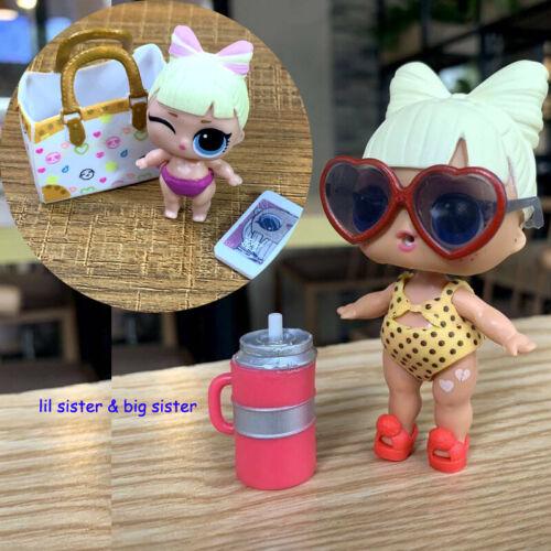 Lot 2 LOL Surprise DOLLS Confetti Pop SPF QT /& LIL SUITE PRINCESS Color Changed