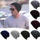 Mens Women Slouch Skull Cap Oversize Wool Warm Beanie Baggy Cap Knit Ski Hat