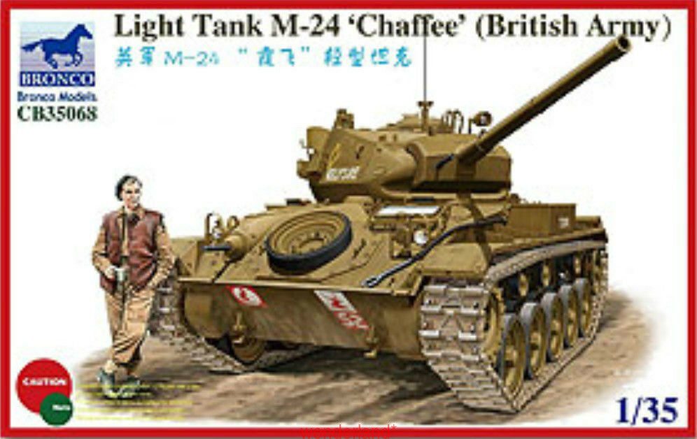 Bronco 1 35 35068 Light Tank M-24 Chaffee British Army