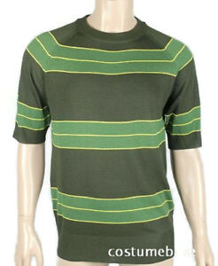 Kurt-Cobain-Sweater-Green-striped-Shirt-Costume-Nirvana-Smells-Like-Teen-Spirit