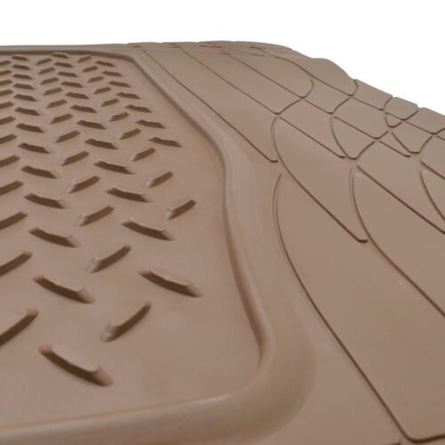 Beige Odorless Medium Cargo Tray Ridged Trunk Mat Liner Waterproof /& BPA Free