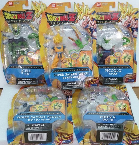 Dragonball Z Ultimate Collection Freeza Cell Action Figure Set w w w  Bonus Shenron 3f06a9